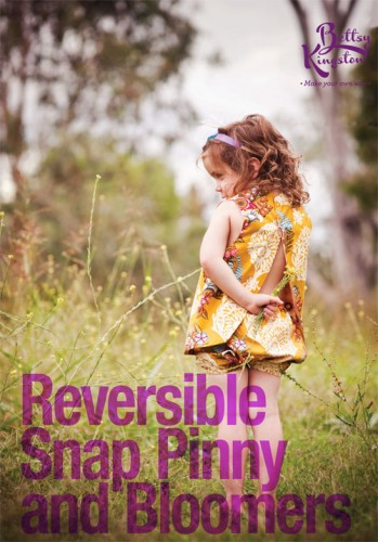 Reversible Snap pinny and Bloomers