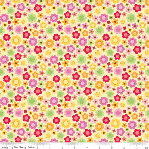 Riley Blake Ladybug Garden Flowers