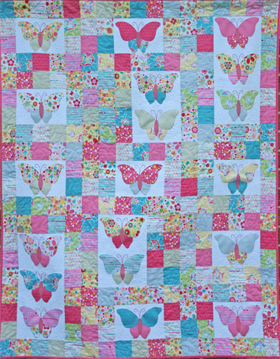 Two Brown Birds Flutter By Butterfly Quilt Pattern The