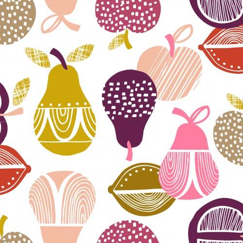 Retro orchard-fruit