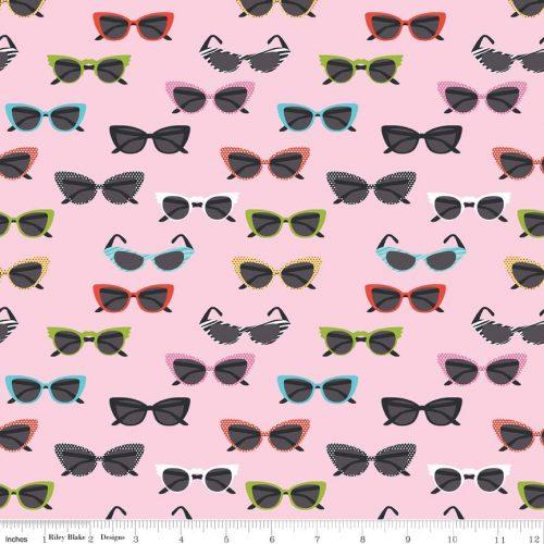 riley blake novelty glasses pink
