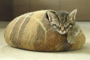 Copyright https://www.etsy.com/au/listing/98311895/cat-bedcat-cavecat-housebrown-felted-cat