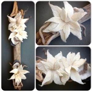 Driftwood flowers