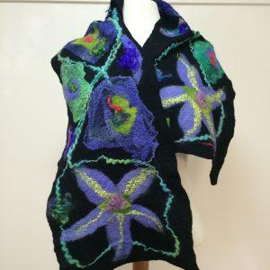 carmel felted scarf