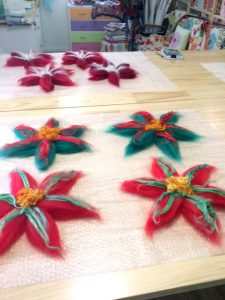 Christmas wreaths in the making
