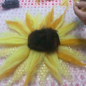 Christine felted flower