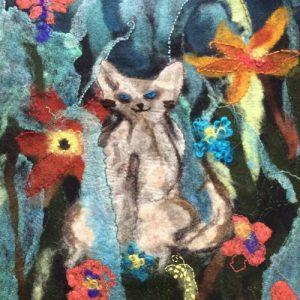 Paulette cat wall hanging