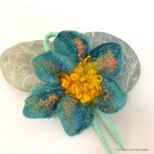felted flower below the surface 1
