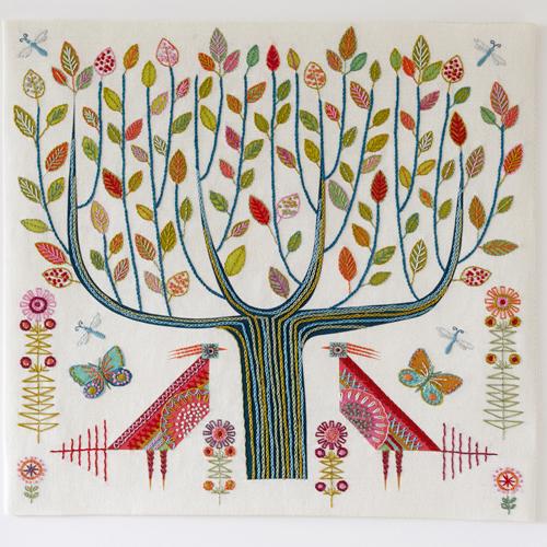 Nancy Nicholson Tree Cushion Embroidery Kit