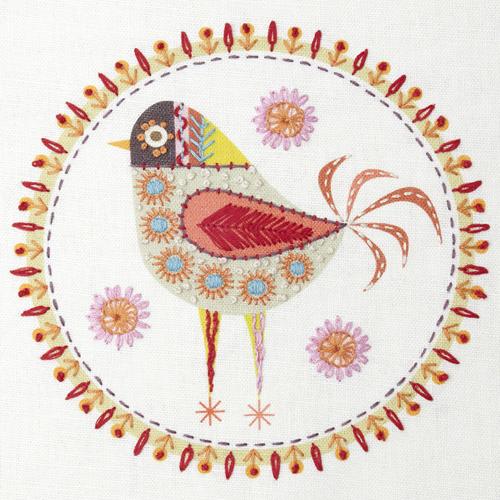 Nancy Nicolson Birdie 4 Embroidery kit