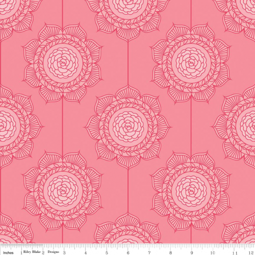The Cottage Garden Wallpaper Pink