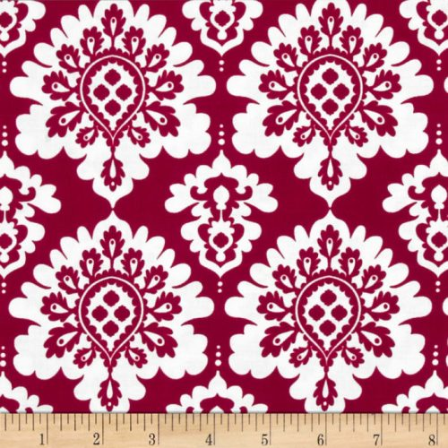 Lost and Found Love Damask Red