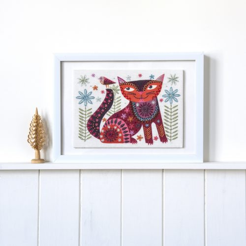 Cat Brown Embroidery kit